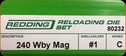 Redding - Full Length Sets - 240 Wby Mag - 80232