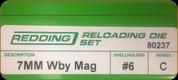 Redding - Full Length Sets - 7mm Wby Mag - 80237