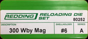 Redding - Full Length Sets - 300 Wby Mag - 80252