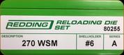 Redding - Full Length Sets - 270 WSM - 80255