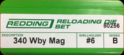 Redding - Full Length Sets - 340 Wby Mag - 80256