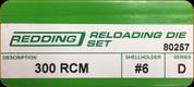 Redding - Full Length Sets - 300 RCM - 80257