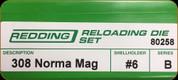Redding - Full Length Sets - 308 Norma Mag - 80258