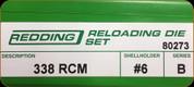 Redding - Full Length Sets - 338 RCM - 80273