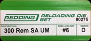 Redding - Full Length Sets - 300 Rem SA UM - 80275