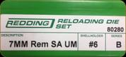 Redding - Full Length Sets - 7mm Remington SA Ultra Mag - 80280