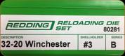 Redding - Full Length Sets - 32-20 Winchester - 80281