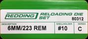 Redding - Full Length Sets - 6mm/223 Rem - 80312