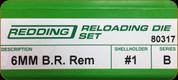 Redding - Full Length Sets - 6mm B.R. Rem - 80317