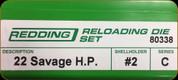 Redding - Full Length Sets - 22 Savage Hi Power - 80338