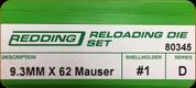 Redding - Full Length Sets - 9.3mm x 62 Mauser - 80345