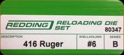 Redding - Full Length Sets - 416 Ruger - 80347