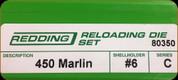 Redding - Full Length Sets - 450 Marlin - 80350