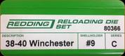Redding - Full Length Sets - 38-40 Winchester - 80366