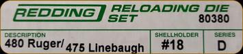 Redding - Full Length Sets - 480 Ruger/475 Linebaugh - 80380