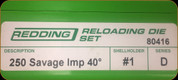 Redding - Full Length Sets - 250 Savage AI - 80416