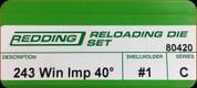 Redding - Full Length Sets - 243 Winchester AI - 80420