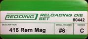 Redding - Full Length Sets - 416 Rem Mag - 80442