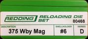 Redding - Full Length Sets - 375 Wby Mag - 80468