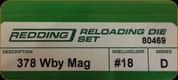 Redding - Full Length Sets - 378 Wby Mag - 80469