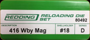 Redding - Full Length Sets - 416 Weatherby Mag - 80492