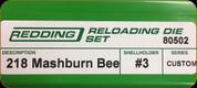 Redding - Full Length Sets - 218 Mashburn Bee - 80502