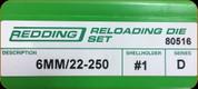 Redding - Full Length Sets - 6mm/22-250 - 80516