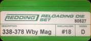 Redding - Full Length Sets - 338/378 Wby Mag - 80527