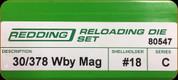 Redding - Full Length Sets - 30/378 Wby Mag - 80547