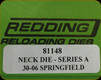 Redding - Neck Sizing Die - 30-06 Springfield - 81148