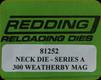 Redding - Neck Sizing Die - 300 Wby Mag - 81252