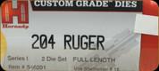 Hornady - Full Length Dies - 204 Ruger - 546201