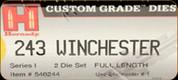 Hornady - Full Length Dies - 243 Winchester - 546244