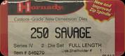 Hornady - Full Length Dies - 250 Savage - 546270