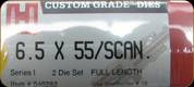 Hornady - Full Length Dies - 6.5x55/Scan. - 546282