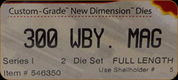 Hornady - Full Length Dies - 300 Wby Mag - 546350