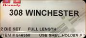 Hornady - Full Length Dies - 308 Winchester - 546358
