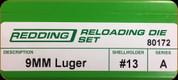 Redding - Full Length Sets - 9mm Luger - 80172
