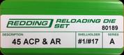 Redding - Full Length Sets - 45 ACP - Auto Rim - 80189