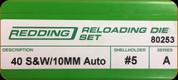 Redding - Full Length Sets - 40 S&W/10mm Auto - 80253