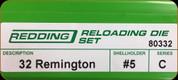 Redding - Full Length Sets - 32 Remington - 80332