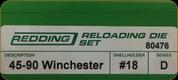 Redding - Full Length Sets - 45-90 Winchester - 80476