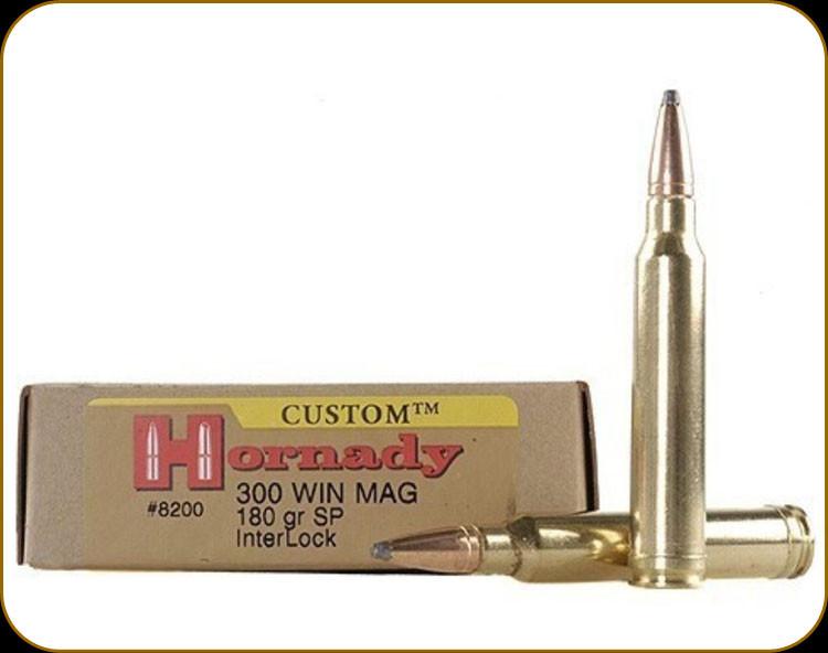 Hornady - 300 Win Mag - 180 Gr - Custom - SP InterLock