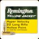 Remington - 22 LR - 33 Gr - Yellow Jacket - Hyper Velocity Hollow Point - 50ct - 21074