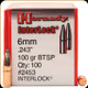 Hornady - 6mm - 100 Gr - Interlock - BTSP - 100ct - 2453