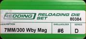 Redding - Full Length Sets - 7mm /300 Wby Mag - 80384