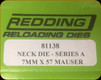 Redding - Neck Sizing Die - 7mm x 57 Mauser - 81138