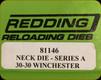 Redding - Neck Sizing Die - 30-30 Winchester - 81146