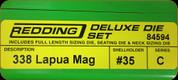Redding - Deluxe Die Set - 338 Lapua Mag - 84594