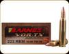 Barnes - 223 Rem - 55 Gr - VOR-TX - TSX - 20ct - 21520